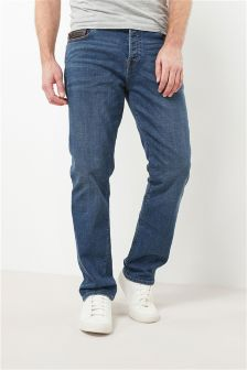 Leather Trim Jeans