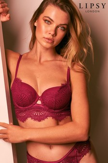 Lipsy Glamour Lace Lightly Padded Longline Balcony Bra