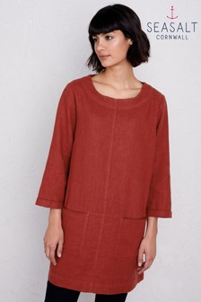 Seasalt Red Porthmeor Cove Umber Tunic