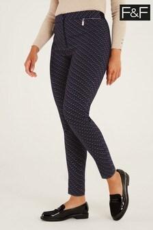 F&F Geo Bengaline Skinny Trousers