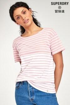 Superdry Pink Breton T-Shirt