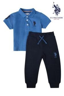 U.S. Polo Assn. Player Poloshirt And Joggers Set