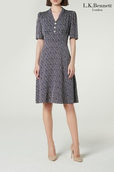 L.K.Bennett Blue Zazou Tea Dress