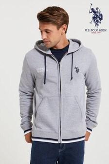 U.S. Polo Assn. Grey Varsity Sweat Zip Hoody
