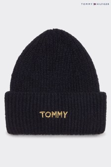 Tommy Hilfiger Blue Branded Beanie