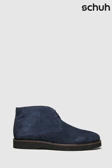 Schuh Navy Griffin Chukka Boots
