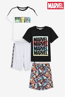 2 Pack Marvel® Short Pyjamas (3-12yrs)