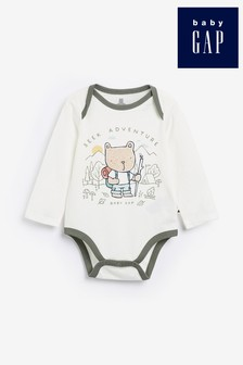 Gap Baby White Bear Graphic Bodysuit