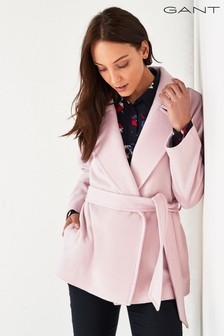GANT Pink Short Wrap Coat
