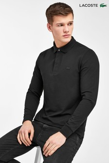 Lacoste® Black Long Sleeve Polo Shirt