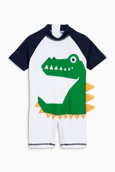 3D Crocodile Sunsafe Suit (3mths-6yrs)
