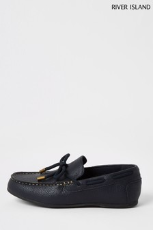 River Island Navy Driver Shoes