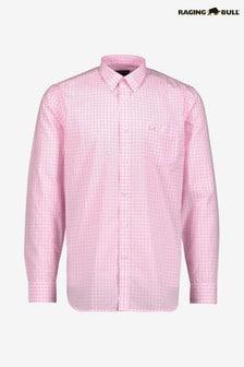 Raging Bull Pink Long Sleeve Signature Gingham Shirt