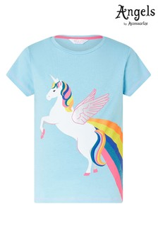 Angels by Accessorize Blue Retro Unicorn T-Shirt