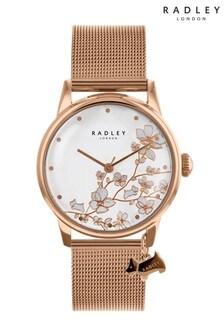 Radley Ladies Rose Gold Mesh Bracelet Watch