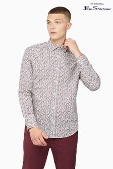 Ben Sherman Ivory Multicolour Floral Shirt