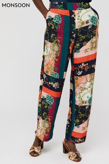 Monsoon Blue Paloma Printed Trousers