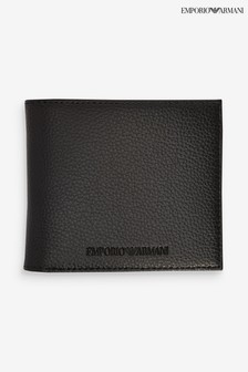Emporio Armani Black Embossed Wallet