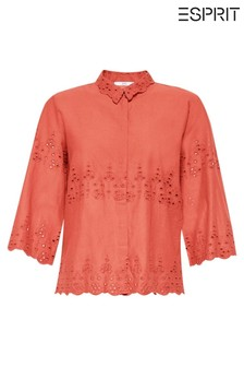 Esprit Orange Broderie Blouse