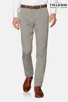 T.M. Lewin Radcliffe Stone Italian Cotton Stretch Chinos