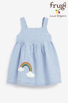 Frugi Organic Cotton Seersucker Rainbow Dress