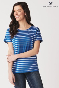 Crew Clothing Blue Breton Stripe T-Shirt