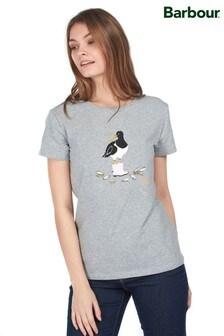 Barbour® Coastal Grey Marl Oyster Catcher Logo T-Shirt
