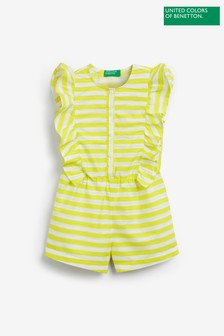 Benetton Striped Frill Playsuit