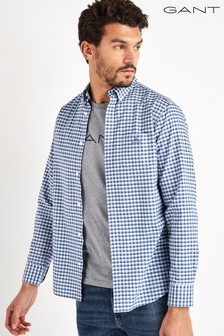 GANT Blue Preppy Oxford Check Shirt