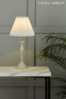 Grey Ellis Satin Painted Spindle Table Lamp
