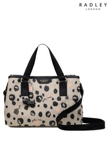 Radley Natural London Bubble Dog Medium Zip Top Multiway Bag