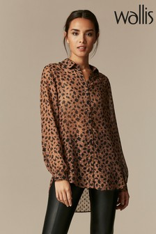 Wallis Brown Smudge Spot Animal Shirt