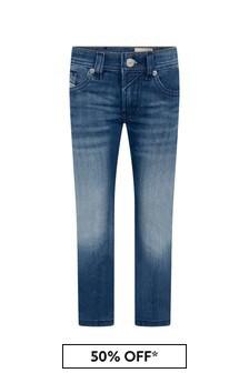 Boys Blue Cotton Denim Thommer Jeans