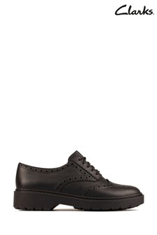 Clarks Blac Smooth Lea Witcombe Echo Shoes