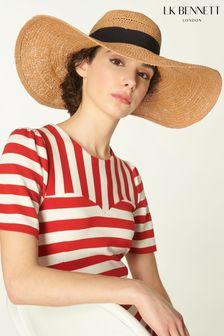 L.K Bennett Saffron Floppy Hat With Ribbon