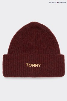 Tommy Hilfiger Red Branded Beanie