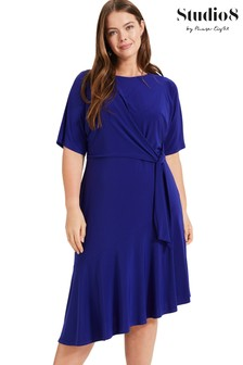 Studio 8 Blue Olivia Asymmetric Dress