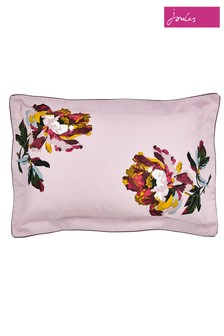 Joules Heritage Peony Floral Cotton Pillowcase
