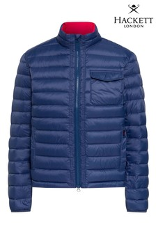 Hackett Blue HKT Lightweight Down Jacket