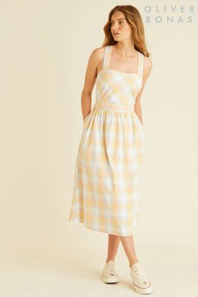 Oliver Bonas Check Cross Back Sun Dress