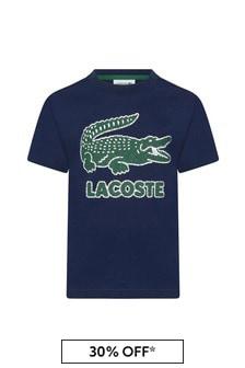 Lacoste Kids Boys Navy Cotton T-Shirt