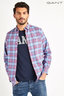 GANT Red Preppy Oxford Plaid Shirt