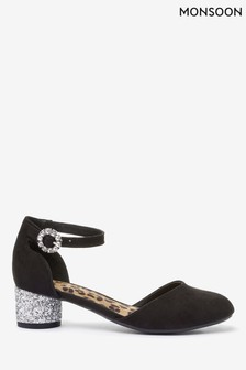 Monsoon Black Ada Two Part Shoes