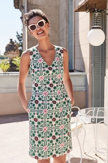 Boden Green Tatiana Textured Dress