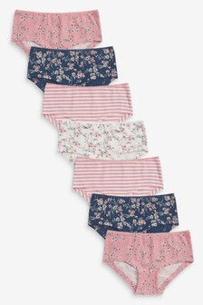 7 Pack Floral Boxer Briefs (2-16yrs)