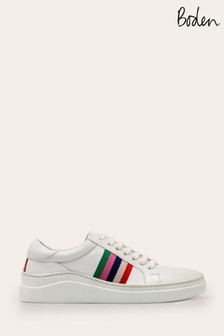 Boden White/Red Maria Comfort Trainers