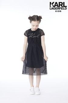 Karl Lagerfeld Kids Black Karl Dress