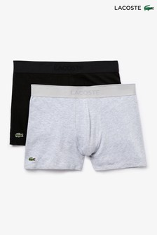 Lacoste® Black 2 Pack Boxers