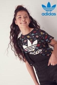 adidas Originals Black Trefoil Printed T-Shirt