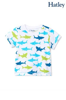 Hatley Great White Sharks Baby Graphic T-Shirt